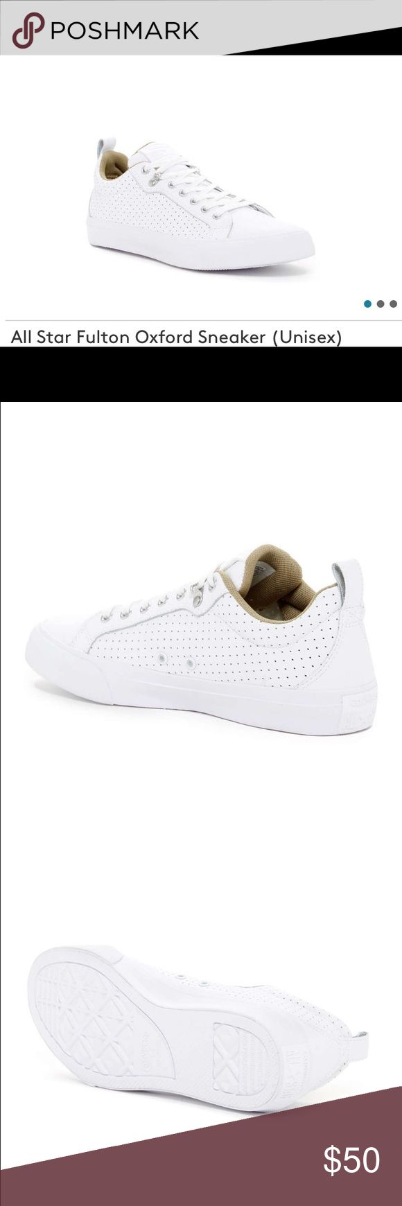 Converse All Star Fulton Oxford Sneaker Men10/W12 Brand new in Box Converse All Star Fulton Oxford Sneaker size 10men/12women. All white color. Beautiful and clean look from converse, great for everyday wear. $70 Retail Price make me a reasonable offer Converse Shoes Sneakers