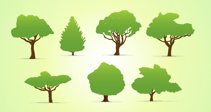 Vector Trees Collection Ai EPS 10 DownloadDesigners Revolution Vector Art Resources Download