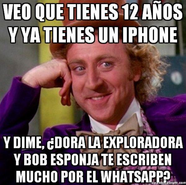 ¿Te escribe mucho Bob Esponja por WhatsApp? Repinned by http://www.Basic-Spanish-Words.com/