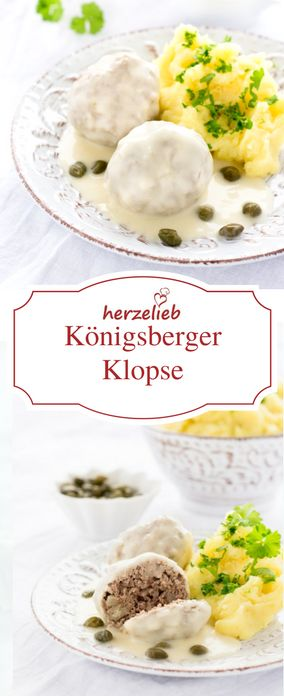 Rezept für Königsberger Klopse von herzelieb. Hackfleisch auf wunderbare Art