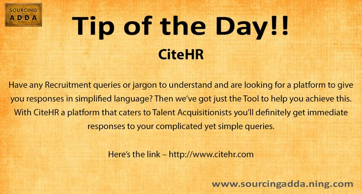 #Sourcingtip Today's tip of the day!! http://www.citehr.com/ #Sourcing #TalentAcquisition