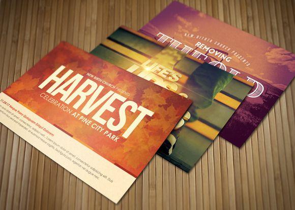 Celebrate Church Postcard Bundle ~ Card Templates on Creative Market