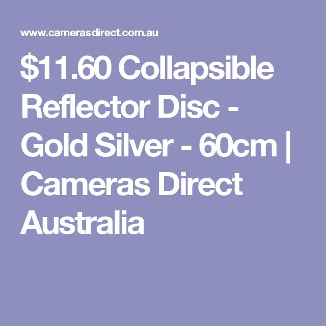 $11.60 Collapsible Reflector Disc - Gold Silver - 60cm | Cameras Direct Australia