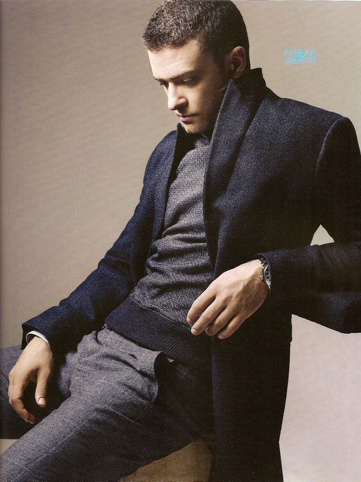 shades of charcoal and coat for a man