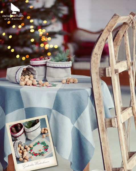 Buch Winterwunderland #acufactum #sticken #naehen #sew #crossstitch  #kreuzstich #embroider. BuchSchlittenKreuzstichWohnzimmerDekorationWeihnachten  ...