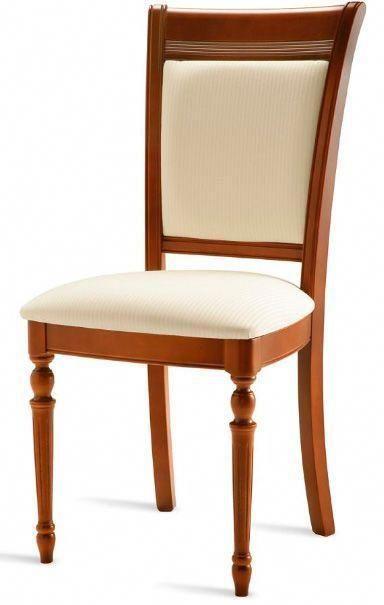 Sillón de comedor tapizado 17 - Silla de madera para comedor estilo ...