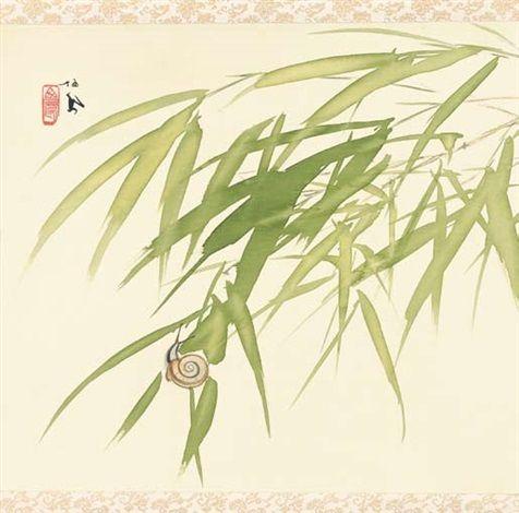 カタツムリ (Katatsumuri) / Snail, 竹内 栖鳳 / Takeuchi Seihō. Japanese (1864 - 1942)