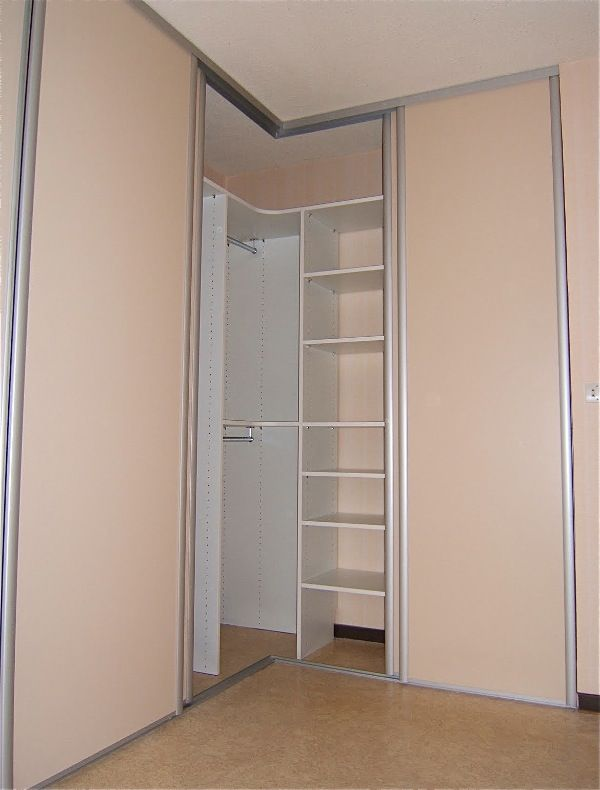 porte coulissante dressing angle