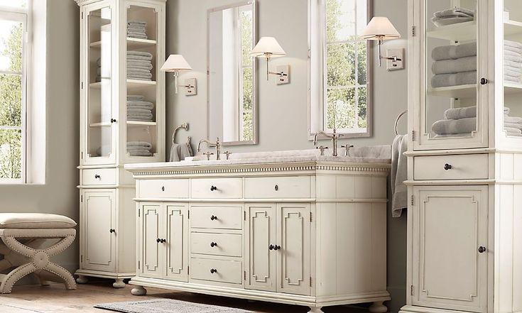 Elegant  Lovely Bathroom Vanities Restoration Hardware With Regard To Residence