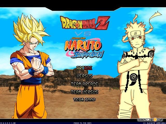 Dragon Ball Z Vs Naruto Shippuden Mugen Dragon Ball Z Dragon