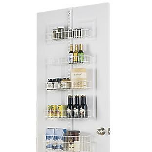 The Container Store U003e White Elfa Door U0026 Wall Rack Solution