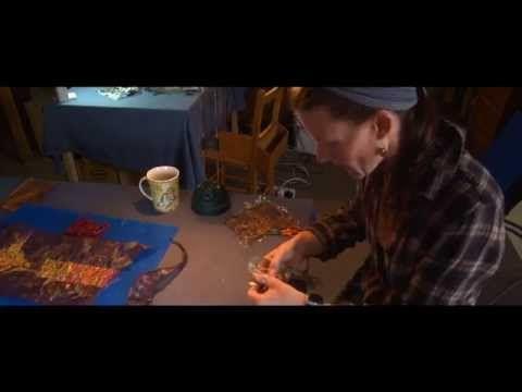 Alysn Midgelow-Marsden; Textiles artist. Film by Big Ant Video based in Derby - YouTube