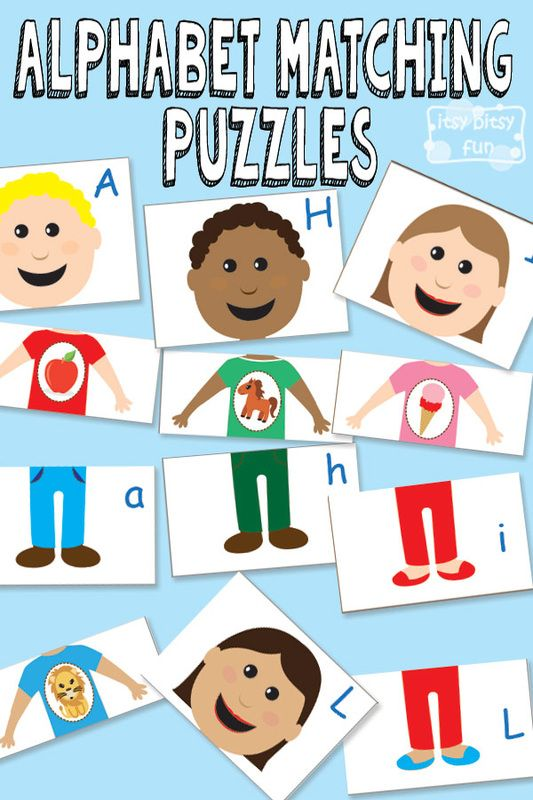 Printable Alphabet Matching Puzzles {Busy Bag}