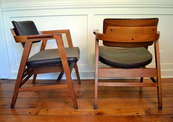 Delightful Mid Century Modern Gunlocke Chairs  Selling Some Just Like These. Love U0027em.  | Things I Collect... | Pinterest | Mid Century Modern, Midcentury Modern  And ...