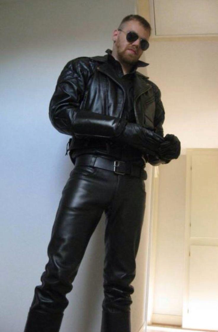 Gay leather bikers men