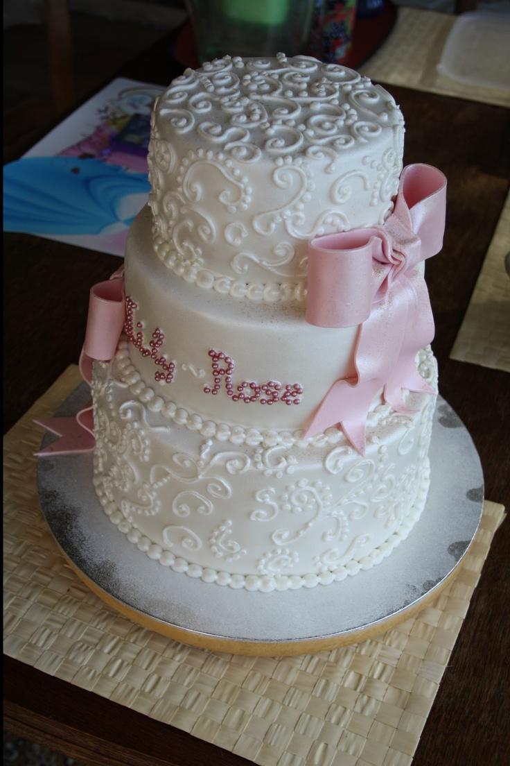 Gâteau de baptême pour Lily-Rose  Gâteau Baptême  Pinterest