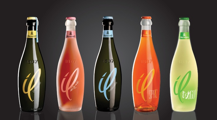 The innovative image of these three semi-sparkling wines demonstrates Mionetto's ability to understand modern trends and different market requirements
