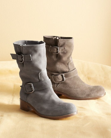 Anna Suede Short Boots. 7.5 in cement, please.
