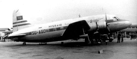 Sold to Misrair (now EgyptAir) in an agreement signed 26 July 1949 for £20.000. Flown to Cairo via Zürich and delivered to Misrair 12 October 1949. Registered as SU-AGO. Named Amoun and operated on international flights from Egypt. Damaged in a landing-accident at Luxor 05.08.1954. Withdrawn from use and scrapped. SAS Vickers Viking Fleet