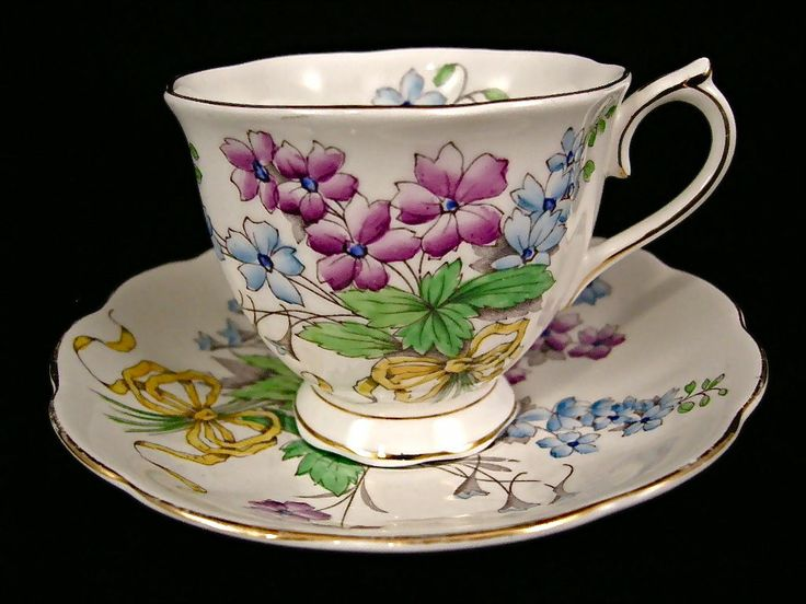 Royal Albert Cup Saucer Larkspur No 7 Pattern C 1945
