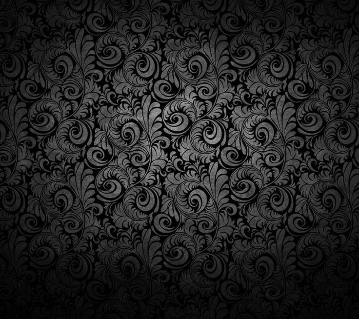 Flower pattern on black background