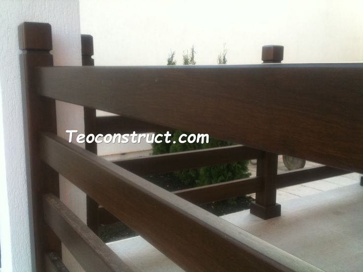 Balustrade din lemn pentru exterior  14