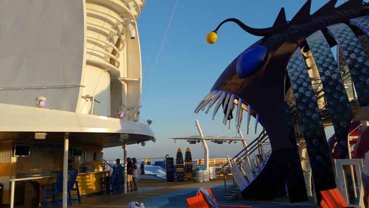 """On the Harmony of the Seas, entrance to """"The Abyss"""""""