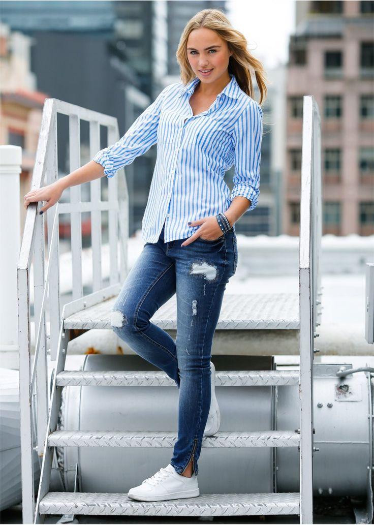 blue jeans outfitł • bonprix