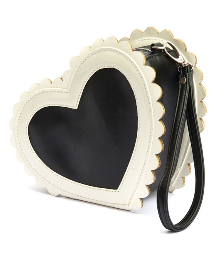 Look at this Lola Ramona Black & White Heartie Bag on #zulily today!