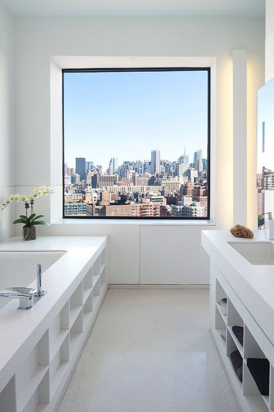 bathroom: 100 Eleventh Avenue by Beyer Blinder Belle
