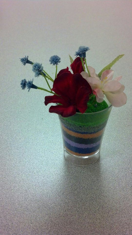 Flower pot sand art craft kit http for Cb flowers and crafts