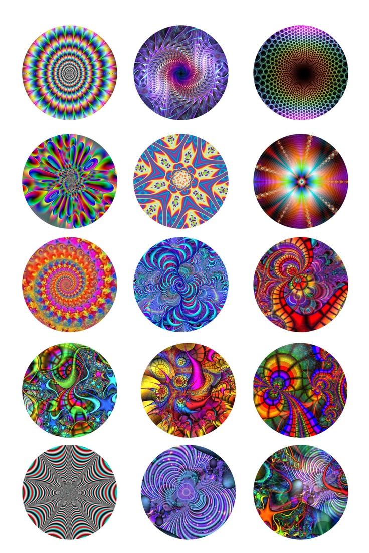 Tye Dye Bottle Cap Images Collage Sheets Designs