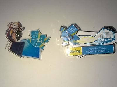 #London 2012 olympics #(diving) venue & mascot pin badge set of 2  #loose,  View more on the LINK: 	http://www.zeppy.io/product/gb/2/311459327686/