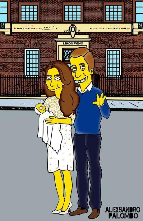 Artista cria versão Simpsons de bebê real e homenageia Diana