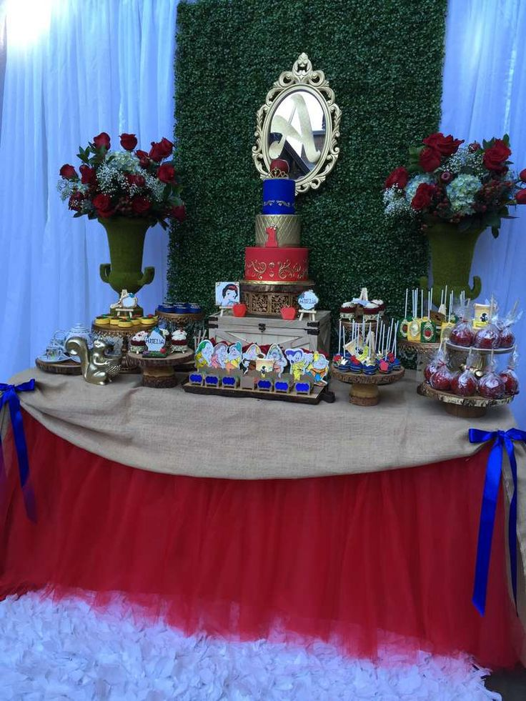 Snow White Birthday Party Ideas   Photo 1 of 48   Catch My Party