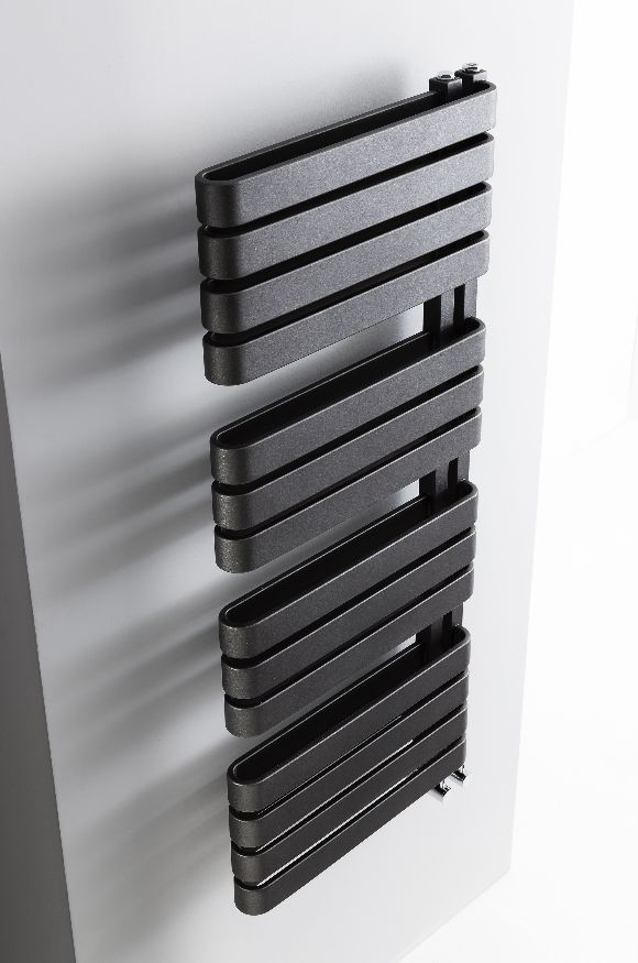 Create a focal point in bathrooms with the iconic design of the Svelte radiator, available in metallic black or soft white - Svelte Towel Warmer from Bauhaus. http://www.crosswater.co.uk/product/accessories-towel-warmers-browse-by-range-svelte/svelte-towel-warmer-500-x-1100mm-se50x111/