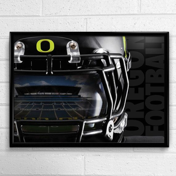 Oregon Ducks Football Poster Reflection by SportPostersUSA on Etsy