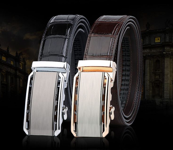 Alligator Belt with Automatic Buckle, Alligator Belt for Men