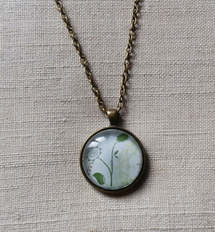 glass tile pendant glass tile cabochon jewelry by me