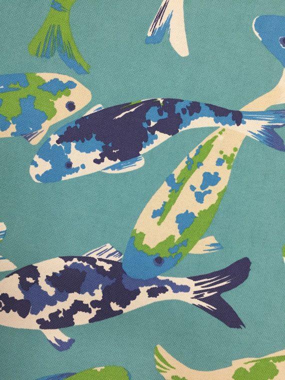Outdoor-Gewebe Türkis Koi Fisch von ShopMyFabrics auf Etsy