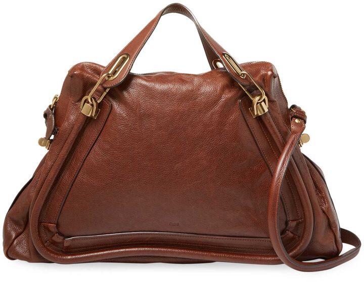Chloé Women's Chloe Brown Leather Paraty Large Bag