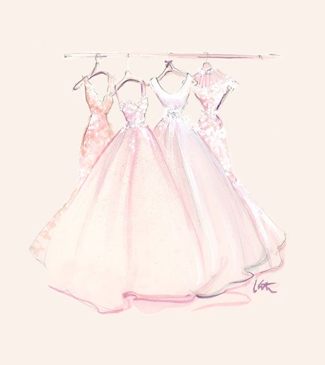 Created by Katie Rodgers of Paper Fashion | Madison James bridal collection