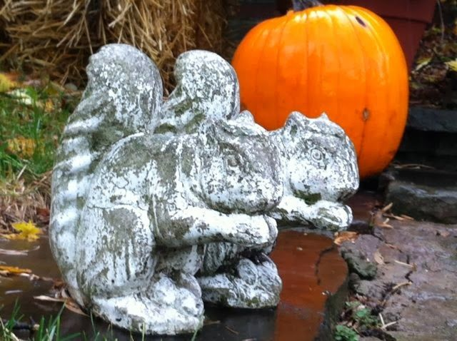 Toronto Gardens: Love-Hate: Concrete squirrels