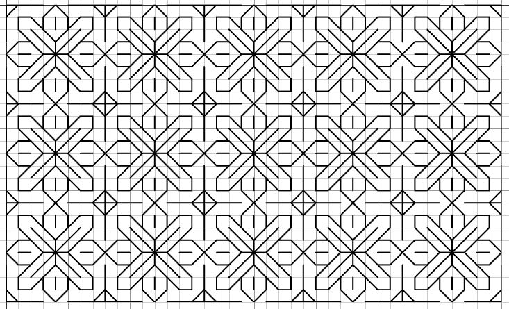 Blackwork Embroidery: Fill Pattern