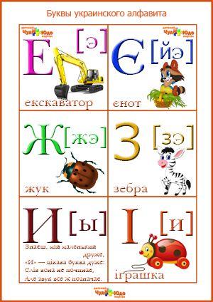 Украинский алфавит с транскрипцией на русском языке ...