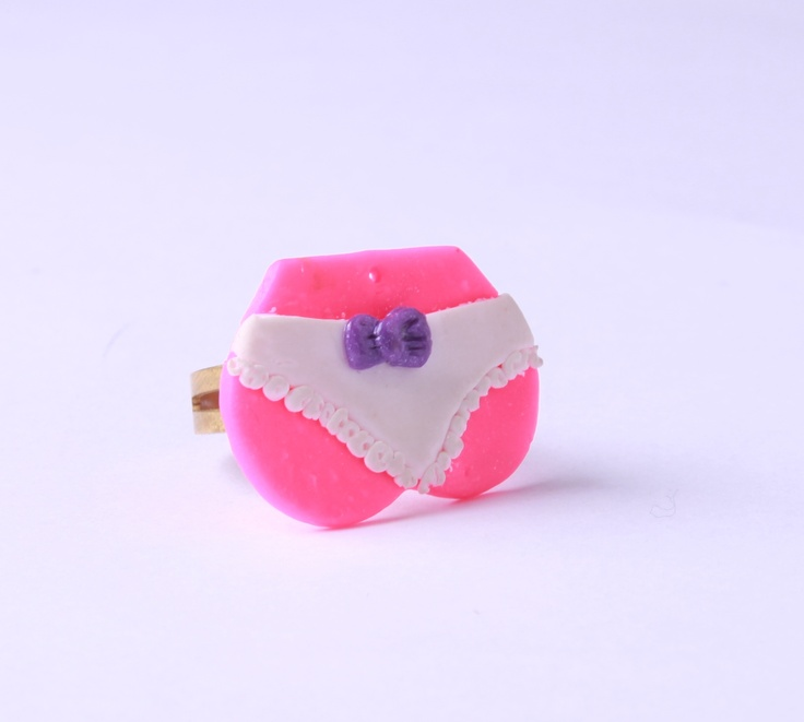 """Polymer Clay """"Pinky Ass"""" ring by milk+biscuit, $19"""
