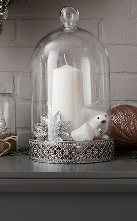 Add a touch of class with the CANVAS Cloche with Tin Base   Canadian Tire Christmas