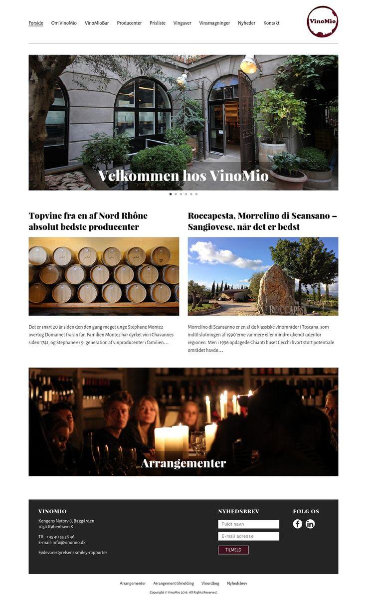 Vinomio  Kommercielt website for vinhandler i hjertet af København.