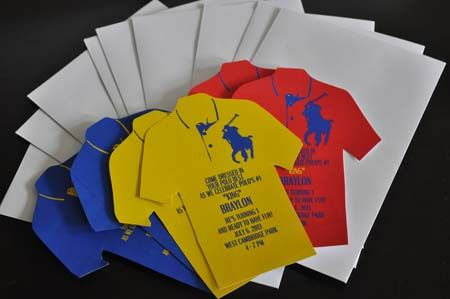 10 Custom Polo T-shirt Invitations