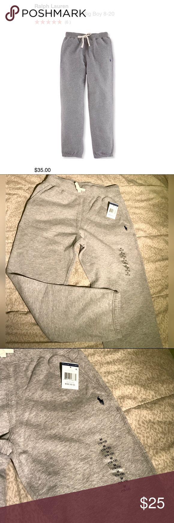 Polo By Ralph Lauren - boys grey sweatpants BNWT grey Polo sweatpants - Boys size M (10-12) Polo by Ralph Lauren Bottoms Sweatpants & Joggers